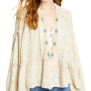 Free People Star Gazing Sweater, NWT Large